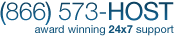 Award Winning 24x7 Web Hosting Support Call (866) 573-HOST