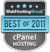 Best cPanel Hosting Award